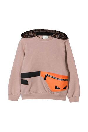 Beige Fendi kids sweatshirt  FENDI KIDS | -108764232 | JMH1175V0F19EK