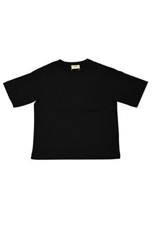 Black t-shirt with logo trama Fendi kids FENDI KIDS | 8 | JMI3037AJF0QA1