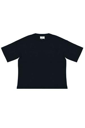 Dark blue teen t-shirt with logo trama Fendi kids FENDI KIDS | 8 | JMI3037AJF0QB0T