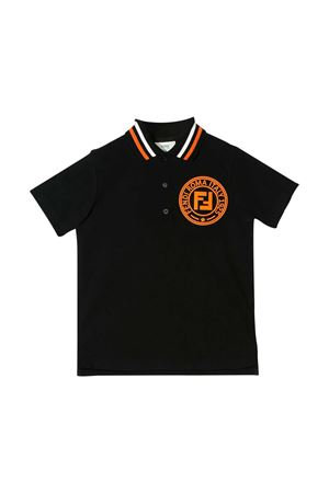 Black polo shirt Fendi kids  FENDI KIDS | 2 | JMI304AVPF0Q97