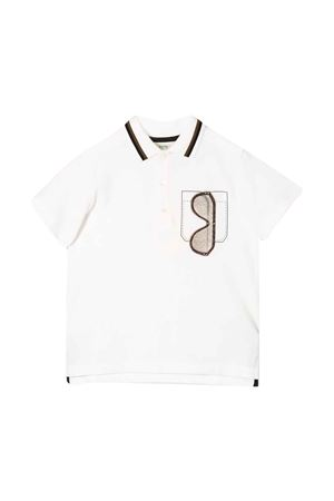White teen polo with press Fendi kids FENDI KIDS | 2 | JMI311AVPF0TU9T