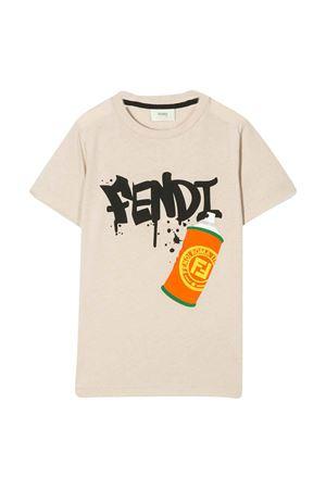 Beige Fendi kids teen t-shirt  FENDI KIDS | 8 | JMI3147AJF09TDT