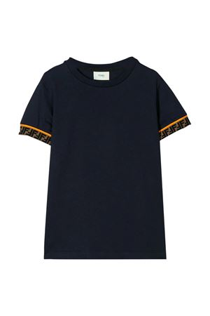 Blue navy t-shirt Fendi kids teen  FENDI KIDS | 8 | JMI3237AJF0QB0T