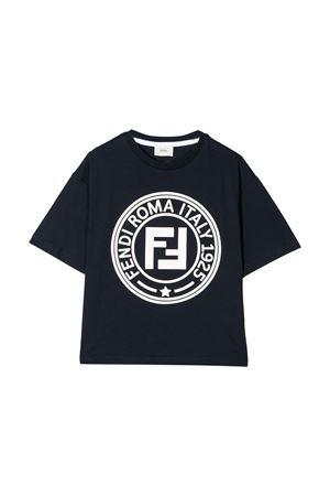 T-shirt blu Fendi kids teen FENDI KIDS | 8 | JMI3267AJF1A25T