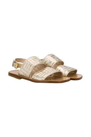 Gold sandals Fendi kids teen  FENDI KIDS | 12 | JMR309AAE3F12KRT