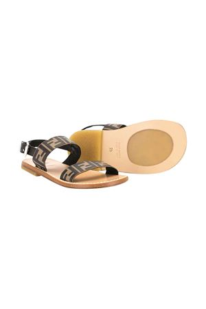 Brown Fendi kids logo sandals  FENDI KIDS | 12 | JMR324A8CIF1425