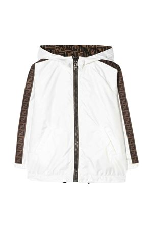 White reversible jacket with hood Fendi kids FENDI KIDS | 1236091882 | JUA080AAC1F0TU9