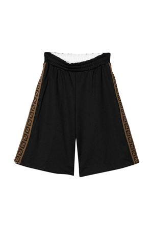 Black bermuda shorts Fendi kids teen  FENDI KIDS | 5 | JUF010A69DF0GART