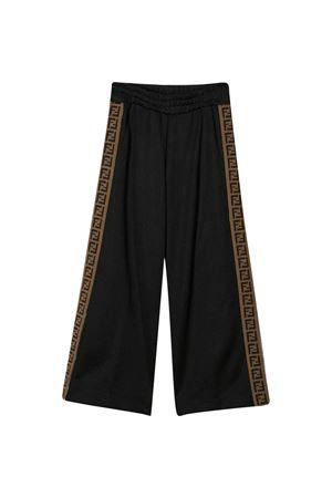 Black teen trousers Fendi kids FENDI KIDS | 9 | JUF015A69DF0ZE7T