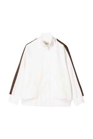 White sweatshirt Fendi kids  FENDI KIDS | -108764232 | JUH012A69DF0TU9