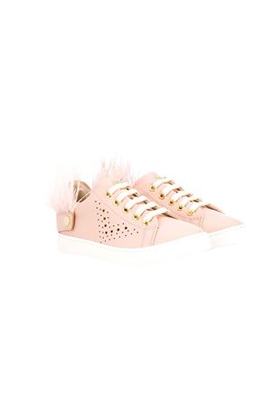 Pink leather teen sneakers Florens kids FLORENS KIDS | 12 | F93282/3T