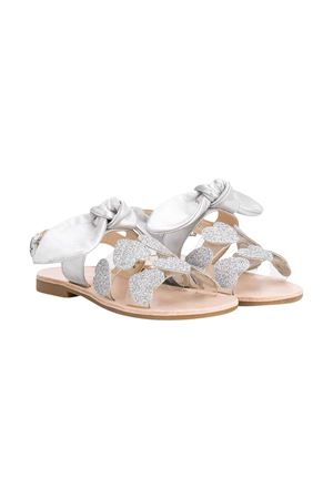 Silver Fendi kids teen sandals  FLORENS KIDS | 12 | K166259AT