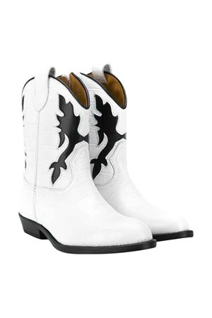 Gallucci kids teen black and white boots Gallucci | 76 | J30080AMBIANCONEROT