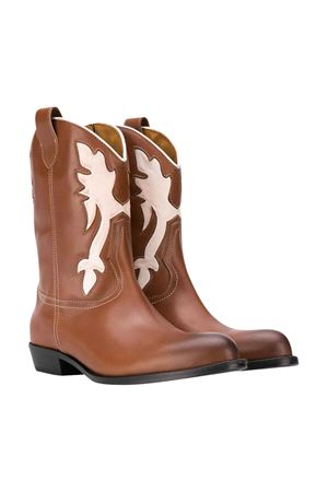 Teen Gallucci kids white and brown boots Gallucci | 76 | J30080AMCUOIOBIANCOT