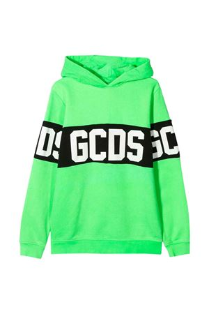 GCDS kids fluorescent green sweatshirt  GCDS KIDS | -108764232 | 022507FL169