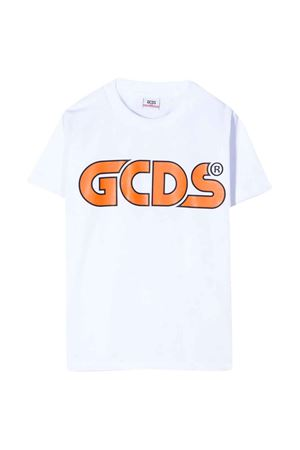 White t-shirt with frontal logo GCDS kids GCDS KIDS | 8 | 022533001