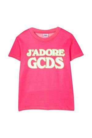 GCDS KIDS teen neon fuchsia t-shirt  GCDS KIDS | 8 | 022707FL134T