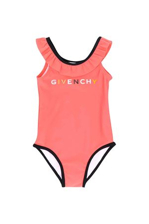 One-piece apricot swimsuit Givenchy kids Givenchy Kids | 85 | H00025430