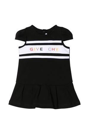 Black and white dress with multicolor logo Givenchy kids Givenchy Kids | 11 | H0205609B