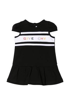 Abito nero e bianco con logo multicolor Givenchy kids Givenchy Kids | 11 | H0205609B