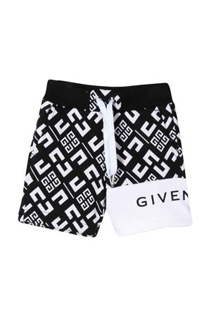 Black and white bermuda shorts with press Givenchy kids Givenchy Kids | 5 | H04070M41