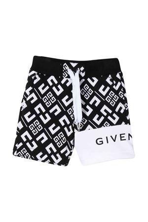 Bermuda nero e bianco con stampa Givenchy kids Givenchy Kids | 5 | H04070M41