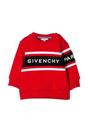 Felpa rossa con dettaglio bianco e logo frontale Givenchy kids Givenchy Kids | -108764232 | H05111991