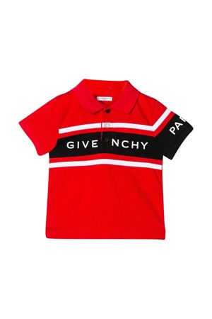 Polo rossa con logo Givenchy kids Givenchy Kids | 2 | H05114991