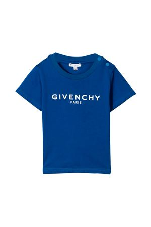 Blue t-shirt with white logo Givenchy kids Givenchy Kids | 8 | H0511681F