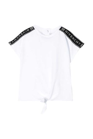 T-shirt bianca baby con bande laterali nere Givenchy kids Givenchy Kids | 8 | H0512310B