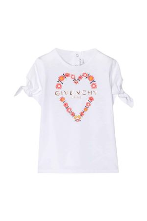 T-shirt bianca baby con stampa frontale Givenchy kids Givenchy Kids | 8 | H0512410B