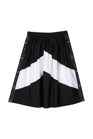 Black and white teen skirt with side logo band Givenchy kids Givenchy Kids   15   H13029M41T
