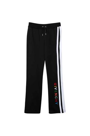 Pantalone nero teen con bande laterali bianche e logo multicolor Givenchy kids Givenchy Kids | 9 | H1408509BT