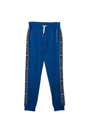 Pantalone blu teen con bande laterali nere Givenchy kids Givenchy Kids | 9 | H2407681FT
