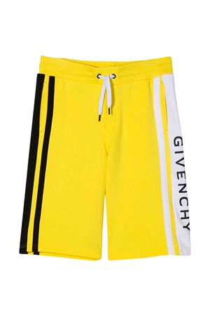 Yellow bermuda shorts Givenchy kids teen  Givenchy Kids | 5 | H24079535T