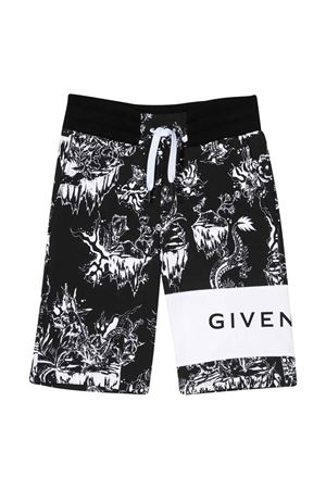 Black and white bermuda shorts Givenchy kids Givenchy Kids | 30 | H24085M41