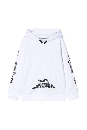 Felpa bianca teen con stampa nera Givenchy kids Givenchy Kids | -108764232 | H2517110BT