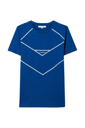 T-shirt blu teen con stampa bianca Givenchy kids Givenchy Kids | 8 | H2517881FT