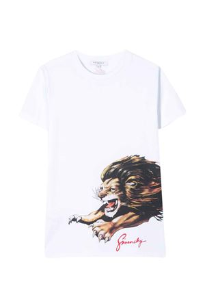 White teen t-shirt with multicolor press Givenchy kids Givenchy Kids | 8 | H2518010BT