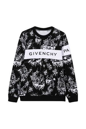 Black and white sweatshirt Givenchy kids Givenchy Kids | -108764232 | H25189M41