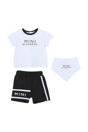 Set tre pezzi nero e azzurro Givenchy kids Givenchy Kids | 75988882 | H98077M58