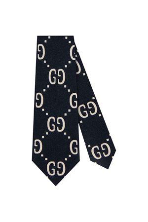 Cravatta con logo GG blu e bianca Gucci kids GUCCI KIDS | 25 | 5293204K5154177