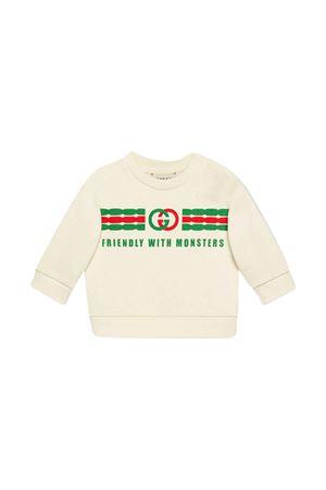 Felpa bianca con logo frontale Gucci kids GUCCI KIDS | -108764232 | 557401XJB5V9000