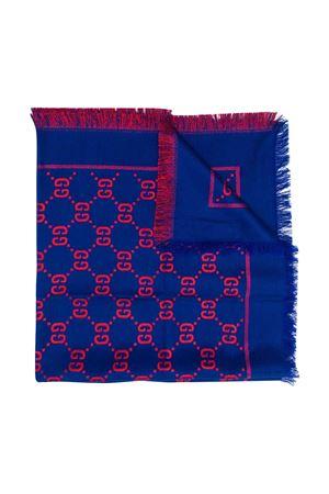 Sciarpa blu e rossa GG Gucci kids GUCCI KIDS | 1375490853 | 5747424K7214200