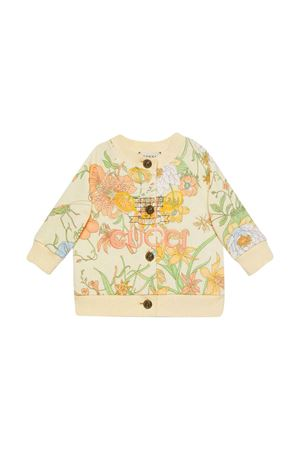 White cardigan with floreal press Gucci kids GUCCI KIDS | 39 | 575181XJB829769