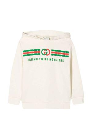 Felpa bianca Gucci kids GUCCI KIDS | -108764232 | 575508XJB5V9000