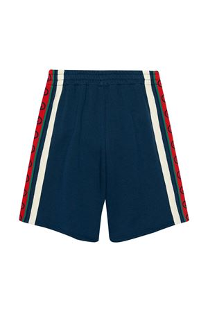Gucci kids blue bermuda shorts  GUCCI KIDS | 30 | 591499XJB4P4843