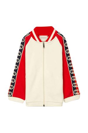 Red and white sweatshirt Gucci kids GUCCI KIDS | -108764232 | 591506XJB4G9373