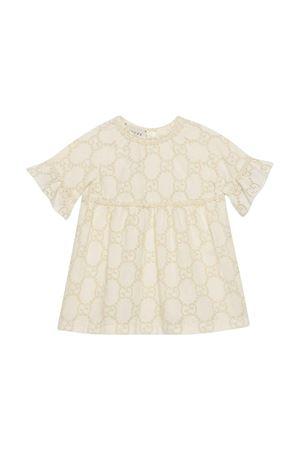 Abito bianco con monogramma Gucci kids GUCCI KIDS | 11 | 595367ZABI89011