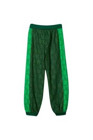 Green sport trousers with flowers Gucci Kids GUCCI KIDS | 9 | 595386ZB4213105